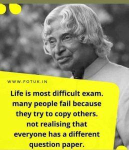 Dr. Apj Abdul Kalam thought.